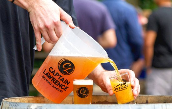 Elmsford, NY: In the beer garden