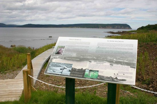 Conche, Canada: boardwalk trail along the old French fishery site