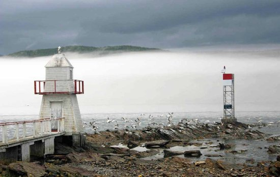 old and new Conche lighthouse