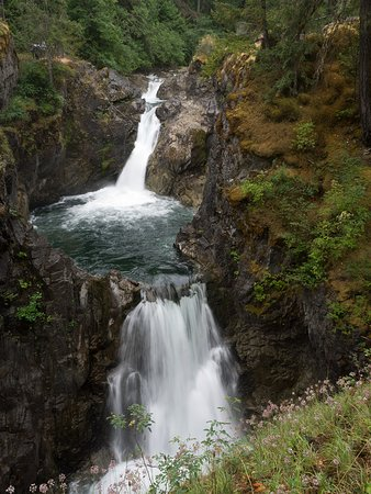 Parksville, Canada: Lower Little Qualicum falls taken from the bridge