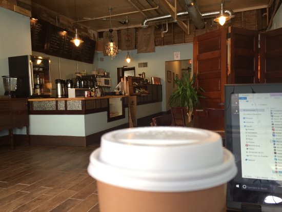 Portage, WI: Stopped to get some brewed coffee & get some work done. Coffee was delicious, staff was very fri