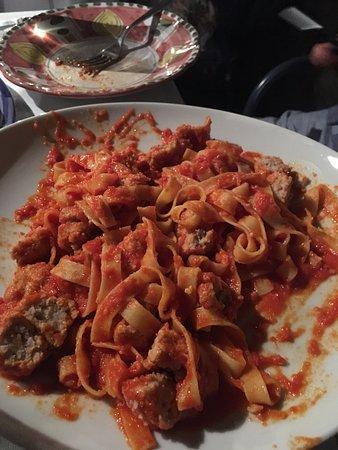 LO Guarracino: Tagliatelle with meatballs... So Tasty!