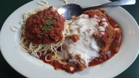 Wake Forest, NC: The amazing veal parmigiana.