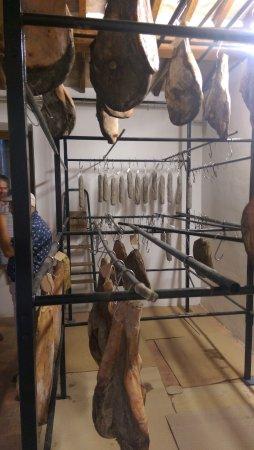 Asciano, Italy: Homemade Prosciutto and Pecorino at Santa Giulia