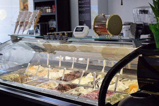 Westfield, NJ: Our state-of-the-art display case features 16 flavors, all made fresh daily