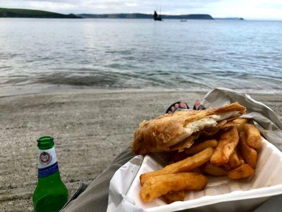 Portscatho, UK: Fish and chips