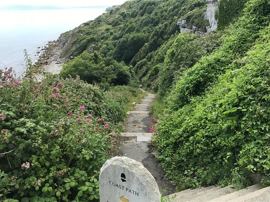 Isle of Portland, UK: steps not too bad