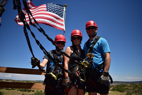 Castle Rock, CO: Adler Family Zip Lining