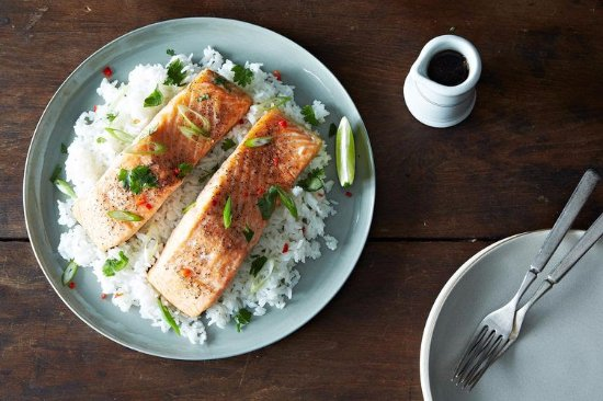 Green Point, Australia: simple salmon and rice