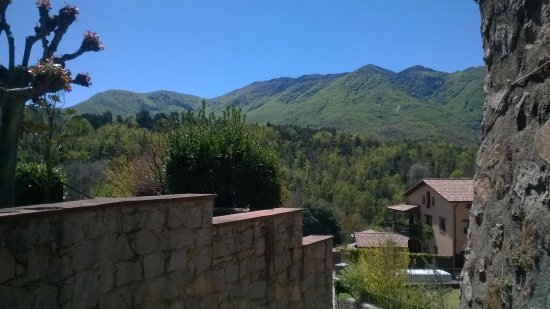 Viladrau, España: El matagalls visto desde el pueblo con cielo despejado.