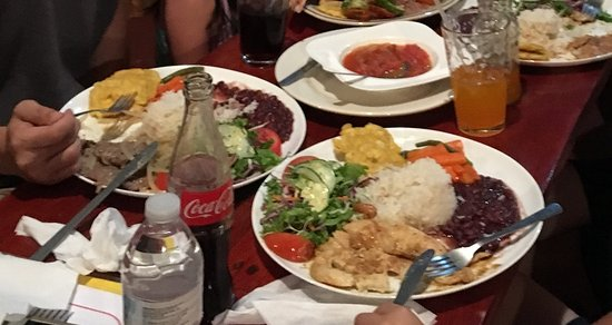Cocles, Costa Rica: Costa Rica style dinner