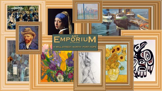 Port Hope, Canada: The Art Emporium by the River is an eclectic and relaxed approach to the entire artistic experie
