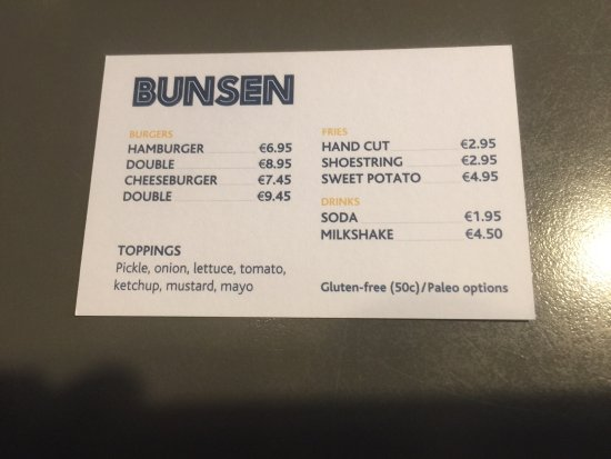 Burger And Hand Cut Chips Picture Of Bunsen Dublin