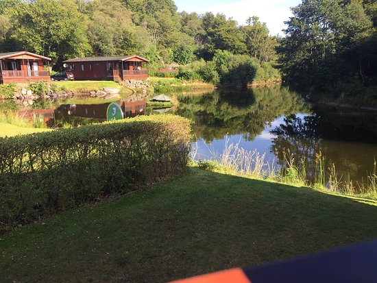 Tralee Bay Holiday Park: Right beside the pond with the trout
