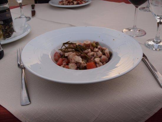 Vrboska, Kroasia: Octopus salad