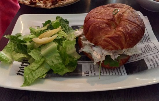 Clarks Summit, PA: Mom's Chicken Salad Sandwich and a Caesar Salad