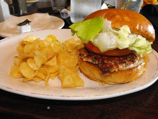 York, PA: Salmon burger!