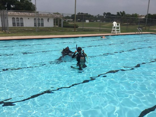 Open Water training at Uvalde City Pool
