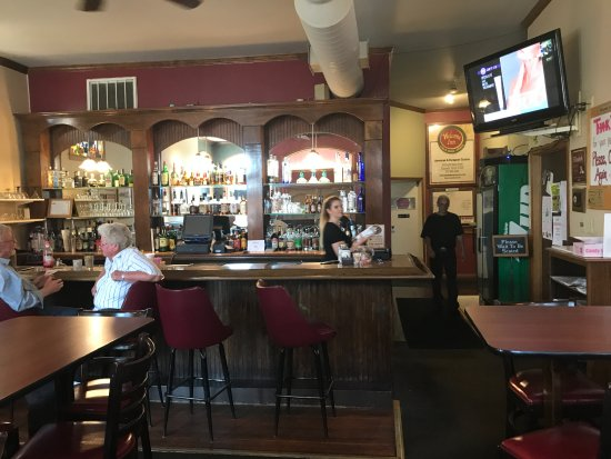 Elizabeth, IL: The bar area of the Welcome Inn