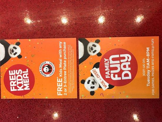 Panda express free kids meal
