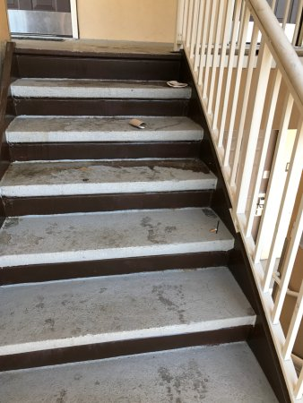 Extended Stay America - Denver - Tech Center - North: Outside stairs are dusgusting