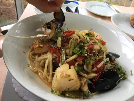 Bloomsburg, PA: Pasta with scallops and mussels