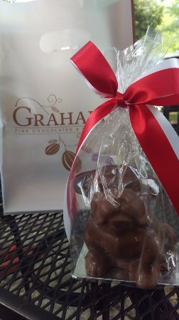 Graham's Fine Chocolates & Ice Cream: Solid Chocolate Bulldog