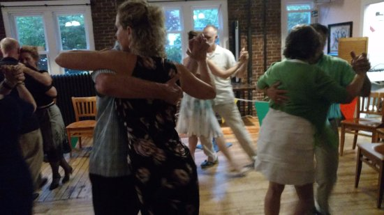 "Hillsborough, NH: couples in ""tango embrace"""