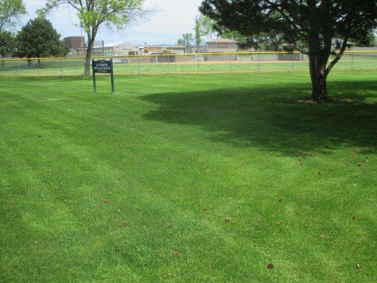 Fridley, MN: View through park to High School