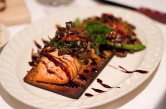 Crystal Lake, IL: Cedar Plank Salmon on special