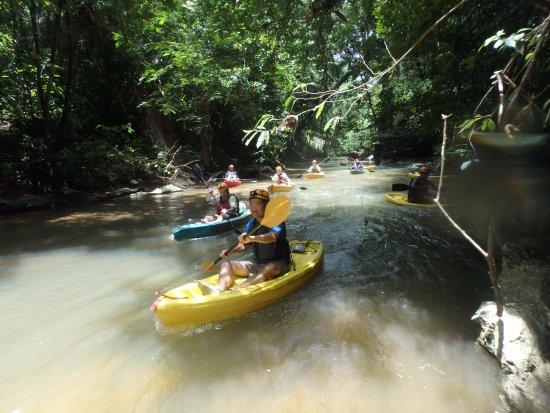 Belmopan, بليز: some of us kayaking.