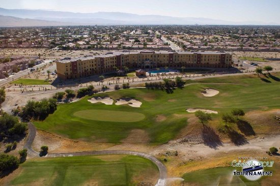 Cathedral City, CA: Aerial View of our 197 Room Hotel