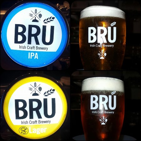 Hrabstwo Dublin, Irlandia: Our draft beers, BRÚ IPA and BRÚ Larger