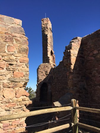 Morrison, CO: An old chimney in the castle ruins