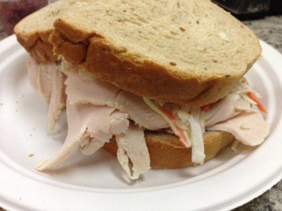 Marblehead, MA: Turkey Sandwich on Rye, with Cole Slaw