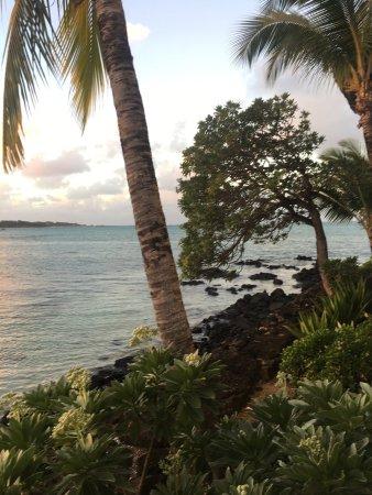 Shangri-La's Le Touessrok Resort & Spa, Mauritius: Room view, Ilot Mangenie, carb heaven and 5 star service.