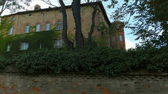Oviglio, Ιταλία: Vista dall'entrata posteriore del parco del Castello