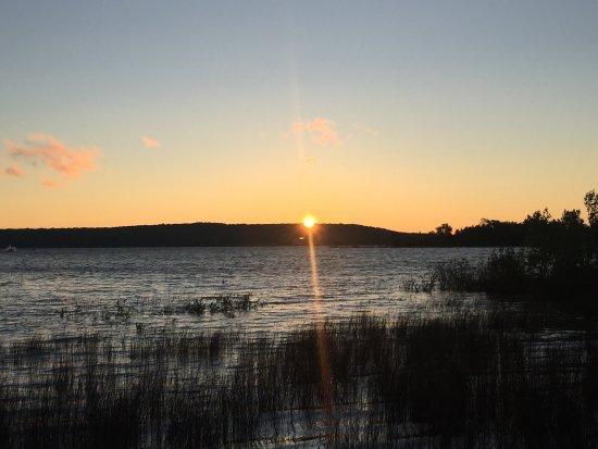 Washington Island, WI: Sunrise over rock island... near Jackson Harbor Inn