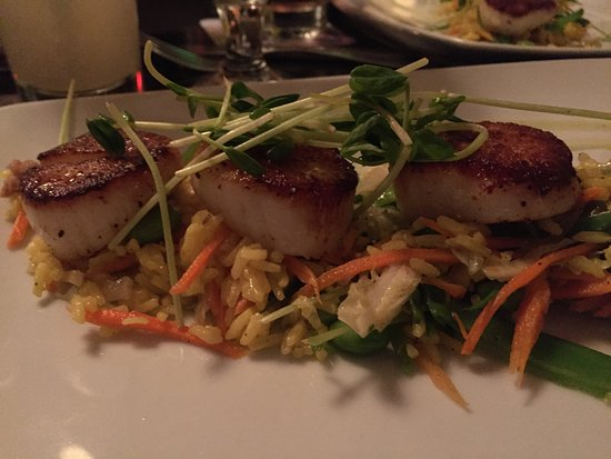 Arlington, MA: Scallops, there were six. This is a close up of three.