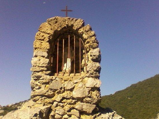 Gorges de Galamus: Статуя святого Антония