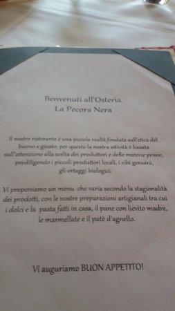 """Osteria La Pecora Nera: IL Benvenuto dell'Osteria """"La Pecora Nera"""""""