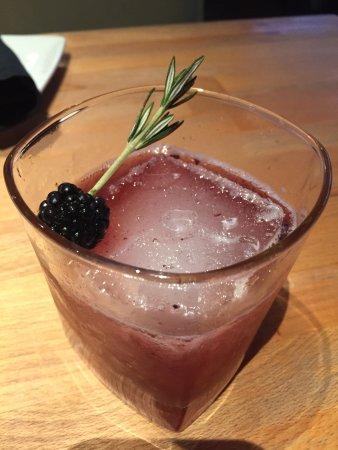 Camarillo, CA: Blackberry & bourbon with a rosemary sprig. Stunning!