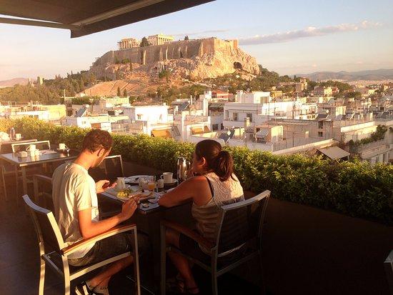 Terraço do Hotel The Athens Gate Hotel
