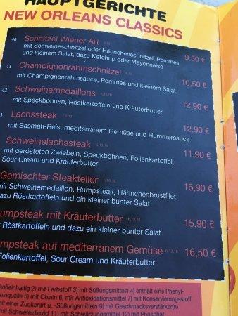 Bad Oeynhausen, Allemagne : メニューを撮影して見ました