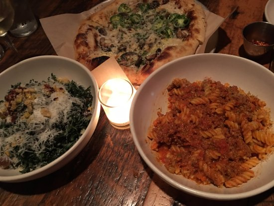 North Italia: Kale Salad/pizza and Gluten Free Pasta
