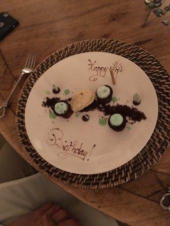 Featherston, Νέα Ζηλανδία: Birthday dessert