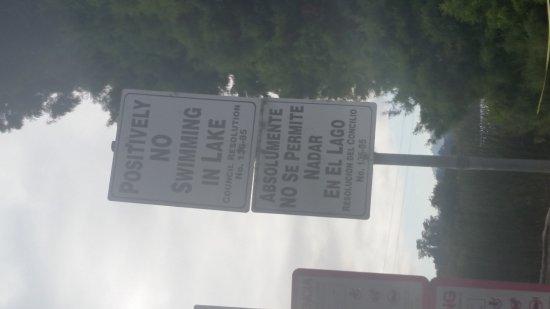 Watsonville, CA: NO Swimming -Algae
