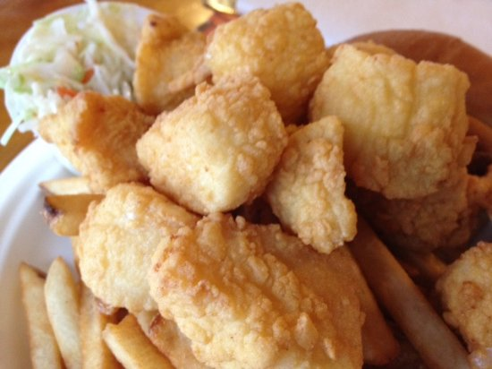 Fried scallops and fri...