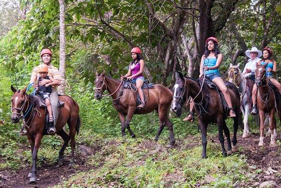 Rincon de La Vieja, Kosta Rika: Tour a caballo/Horseback riding