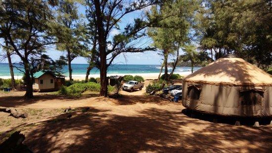 Anahola, Hawái: Sicht aufs Meer vom Bungalo aus